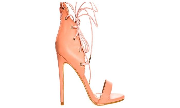 Women's Lace Up High Heels Sandals
