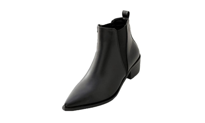 Women's Solid PU Casual Martin Boots