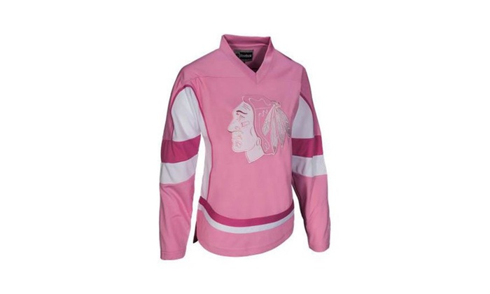 Duxyi: Chicago Blackhawks Reebok Youth Pink Practice Jersey