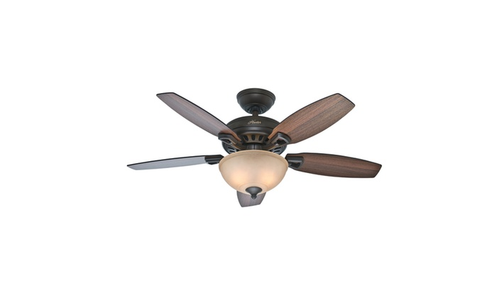 Hunter 44 in new bronze ceiling fan wamber bowl light certified new bronze ceiling fan wamber bowl light certified refurbished groupon mozeypictures Choice Image