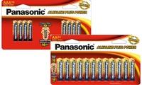 Panasonic Alkaline Plus 40 Pack Batteries (24AA & 16AAA)