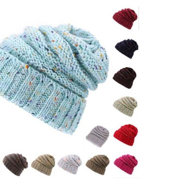 f6cc2e766 Women's Warm Winter Beret Braided Baggy Knit CC Beanie Hat Ski Cap