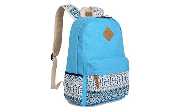 Voogo Teens Canvas Back Packs School Backpack for Girls