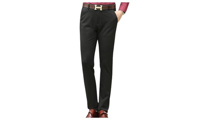 Men's Long Simple Casual Slim Fit Straight Pants