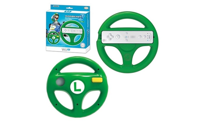 Luigi Racing Wheel Mario Kart 8 Controller For Nintendo Wii U