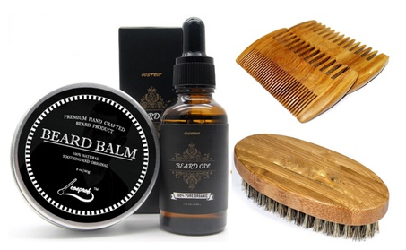 Beard Oil and Beard Balm Kit for Men - Unscented Leave-in Conditioner aee45e8e-7222-4ecf-93b9-b0b31c149baf