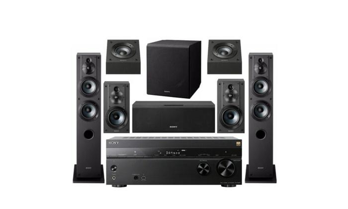 Sony 7 2 Dolby Atmos Wi-Fi Network AV Home Theater Receiver speaker bundle