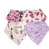 Unik Baby Set of 4 Organic Cotton Bandana Drool Bibs for Girls