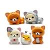5pcs/set 1.5-2.5cm Bear Cat Pig Action Figure Toy