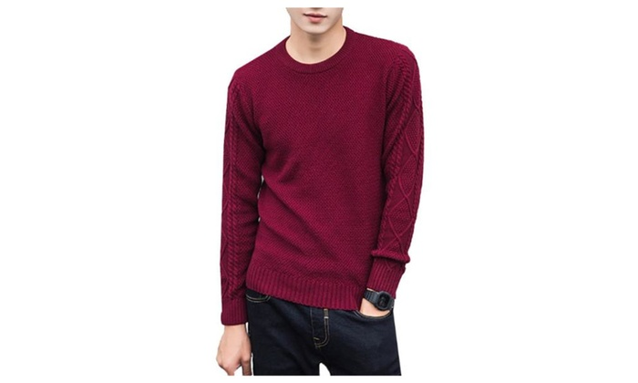 Men's Simple Casual Regular Fit Solid Pullover Pullovers