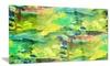 Africa Green Texture Abstract Metal Wall Art 28x12