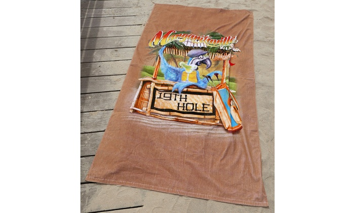 Margaritaville 19th Hole Beach Towel: Margaritaville 19th Hole Beach Towel