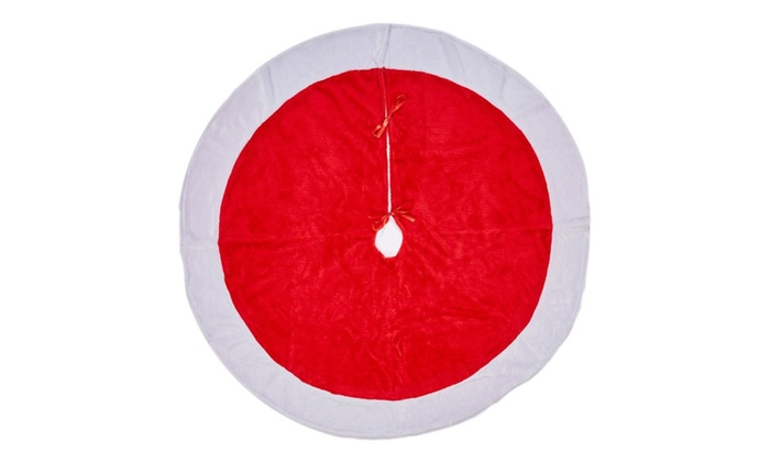 rorgio christmas tree skirt 48 inches large red and white holiday