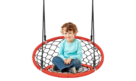 Costway Spider Web Chair Swing Adjustable Ropes Kids Play Equipment 2 colors
