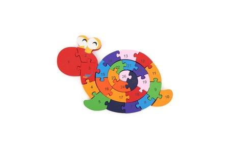 Wooden Snail Shape Puzzle Jigsaw Alphabet Number Blocks Kid Educationa 5eeec760-099a-4884-bbda-80611dc8cb92