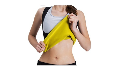 Women Weight Loss Shapewear Sweat Tank Top Tummy Fat Burner Gym Vest