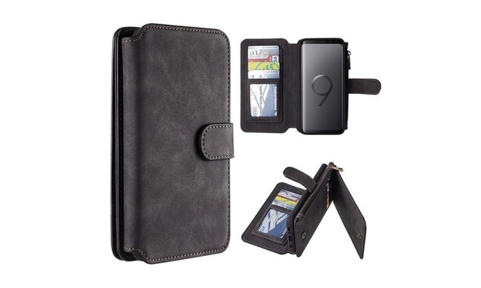 pretty nice 7a2ed 753b9 Samsung Galaxy S9 Plus Luxury Coach Series Flip Wallet Case | Groupon