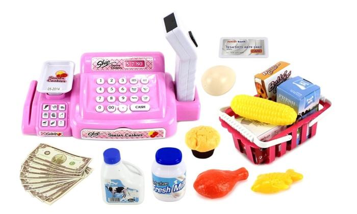 Senior Cashier Cash Register Pretend Play Toy Cash Register Groupon