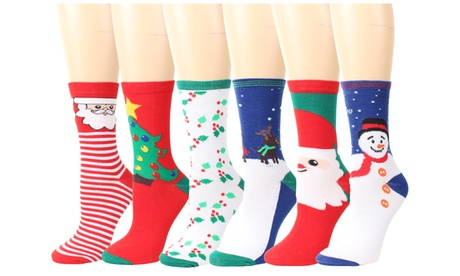 Women Christmas Holiday Casual Socks 6 Pairs, Gift Box Packaged With Gift Card e59415ad-f49e-4147-8a6b-1dc335422eec