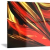 Fire Lines Red Abstract Digital Metal Wall Art 28x12