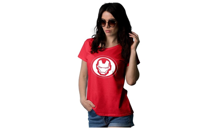 H-Store: Womens Iron Man Logo T shirt