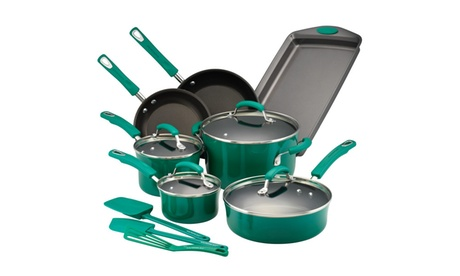 Rachael Ray Hard Porcelain Enamel Nonstick Cookware Set, 14pc d989e98b-2deb-40c4-8c4e-f3e91c138d31
