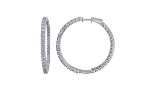 5.00 Cttw Diamond Hoop Earring in 14K Gold - KE9450