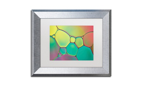 Cora Niele 'Stained Glass I' Matted Silver Framed Art 4eebc327-faf0-4bf1-9495-585d444e323f