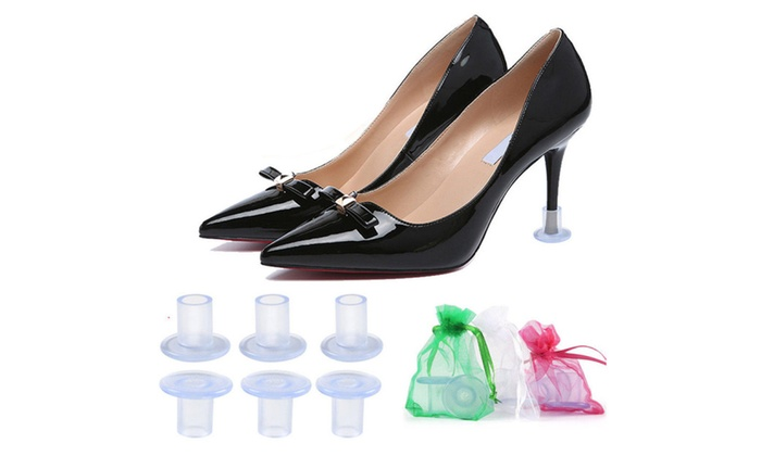 05c30cde14a 20X High Heel Protectors Stopper Stop Sinking Stiletto High Heel Cover