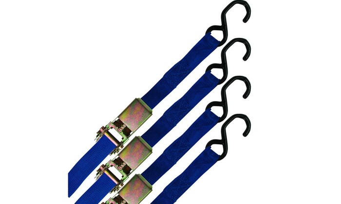1 inch x 15 feet Ratchet Straps - Set of 4