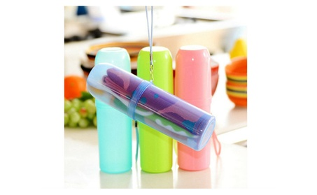 Travel Compact Toothpaste Toothbrush Cup Holder 0307298d-03b5-4a4c-8e39-b5350814f901