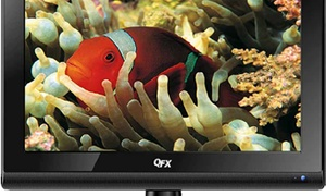 "QFX TV-LED1611 LED TV, 15.6"", w/ 12VDC Adapter"