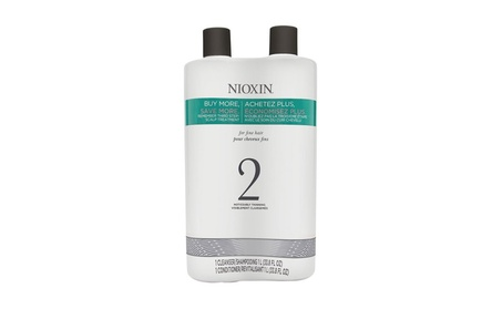 Nioxin System 2 Cleanser and Scalp Therapy Conditioner, 33.8 Ounce eb4f5e22-841e-4adb-be5b-055b50ef8de6