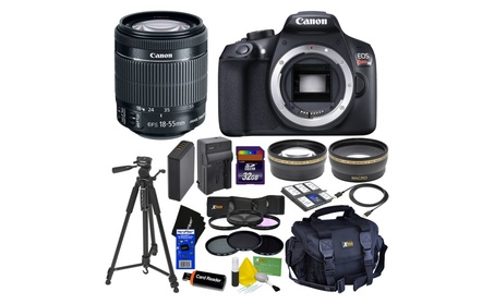 Canon EOS Rebel T6 DSLR Camera,18-55mm Lens +Tele & Wide Lenses + Kit 9f97c3f6-b83e-4d34-8cdd-1a4c4cf6984c