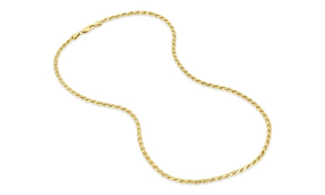 Gold Plated Sterling Silver Rope 080 Gauge Chain 50610d9d-0117-4669-abed-648818398dbe