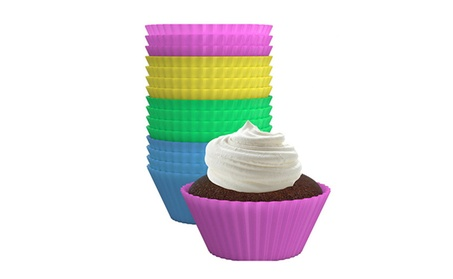 24 Pack Silicone Cupcake Liners Reusable Baking Cups 30a108a3-a41b-4a8e-8a3f-fa0e9764b464
