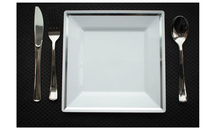 ... Imperial 10.25u201d Square Heavy Duty Plastic Plates White - 50ct  sc 1 st  Groupon & Imperial 10.25u201d Square Heavy Duty Plastic Plates White - 50ct | Groupon