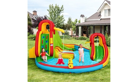 Costway Kids Inflatable Water Slide Bounce Park Splash Pool