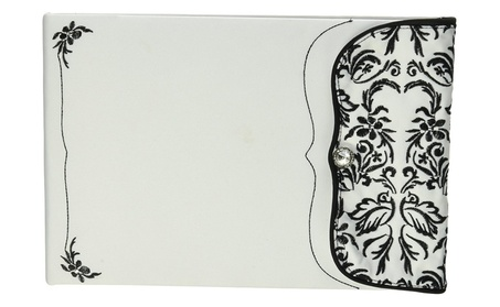 Weddingstar 9222 Love Bird Damask in Classic Black and White Guest