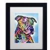 Dean Russo 'Deacon' Matted Black Framed Art