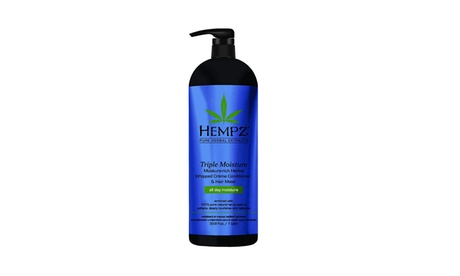 Hempz Triple Moisture-Rich Daily Herbal Creme Conditioner and Hair Mask 33.8 oz