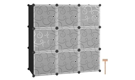 9 Cube Plastic Storage Organizer