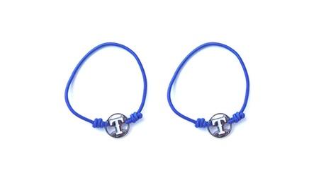 MLB Texas Rangers Stretch Bracelet/Hair Tie Set 86d71d66-7763-451d-bab3-ce8affdc8a26