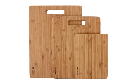 Freshware 3-PK Premium Bamboo Cutting Board Set for Meat & Veggie Prep 145b1aa7-e869-4709-aa00-59a5c9efdef5