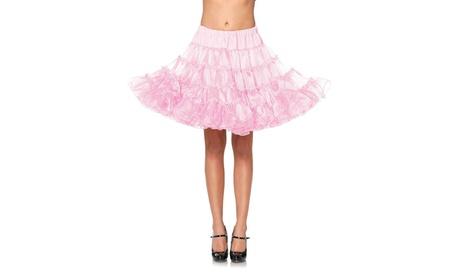 Leg Avenue Women's Deluxe Crinoline Petticoat Extra Fluffy Cute Tutu Skirt
