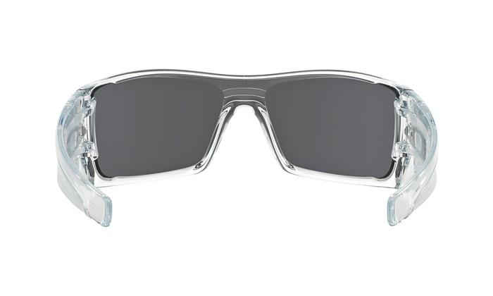 85c4f587d5f45 Oakley Batwolf Men Sunglasses OO9101-07 Polished Clear Frame   Ice Iridium  Lens