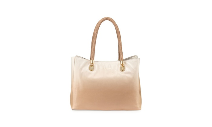 Cole Haan Patent Leather Benson Item Tote in Sandstone
