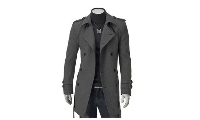Men's Long Sleeve Solid Buttons Up Slim Fit Windbreaker