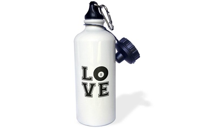 Water Bottle Print of Love Pool Billiards
