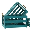 Wood Rectangular Crate w/ Mesh Sides and Rope Handles Set of 3